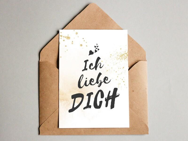 """Karte """"Ich liebe Dich"""" - 1"""