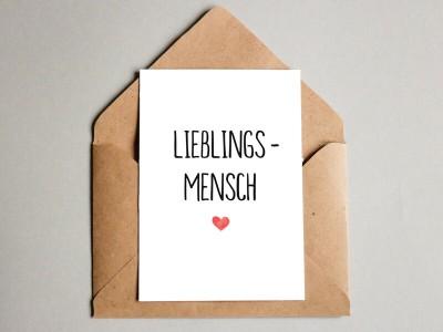 """Karte """"Lieblingsmensch"""" - 1"""