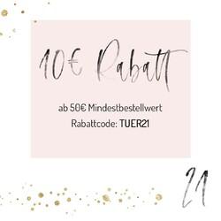 🎄 T U E R  21 🎄 Heute schenken wir Dir ganze 10€ Rabatt ab einem Bestellwert von 50€! Nutze dazu einfach den Rabattcode TUER21 auf www.kamewi.de  #adventskalender2020 #giveaway #gewinnspiel #rabatt #adventskalender #rabattcode #weihnachtsmarkt #weihnachtsgewinnspiel #kaiserslautern #queidersbach #kamewi #standwithsmall #shopping #weihnachten #christmas #geschenkidee #weihnachtsgeschenke