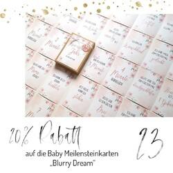 """🎄 T U E R  23 🎄 Nur heute gibt es 20% Rabatt auf die Baby Meilensteinkarten """"Blurry Dream""""! Der Artikel ist direkt im Shop reduziert und es ist kein Rabattcode nötig. Mehr auf www.kamewi.de  #adventskalender2020 #giveaway #gewinnspiel #rabatt #adventskalender #rabattcode #weihnachtsmarkt #weihnachtsgewinnspiel #kaiserslautern #queidersbach #kamewi #standwithsmall #shopping #weihnachten #christmas #geschenkidee #weihnachtsgeschenke"""